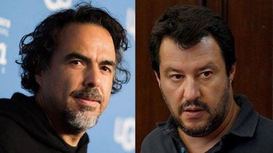 """Salvini si scaglia contro Iñárritu: """"Barcone in piazza Duomo? Vogliono farci il lavaggio del cervello"""""""