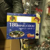 Lodi, sequestrati 7 milioni di luminarie di Natale illegali
