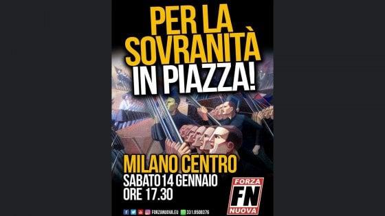 """Forza Nuova, polemiche sul manifesto per il corteo in centro: """"Apologia del fascismo, Sala vieti il raduno"""""""