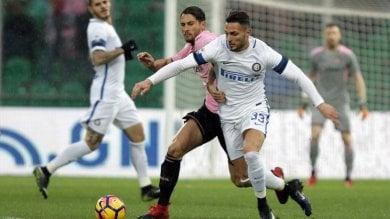 Palermo-Inter 0-1, Joao Mario  firma la sesta vittoria consecutiva   foto