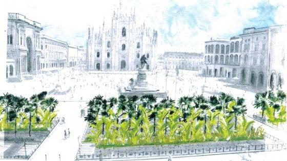 Starbucks sbarca a Milano, come primo atto firma il nuovo giardino di piazza Duomo