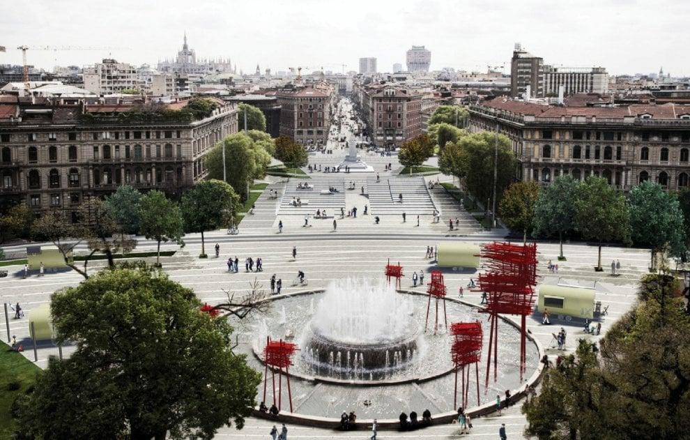 Milano, isole digitali o scalinate trasparenti: i 10 progetti per piazza Castello (e dove vederli)