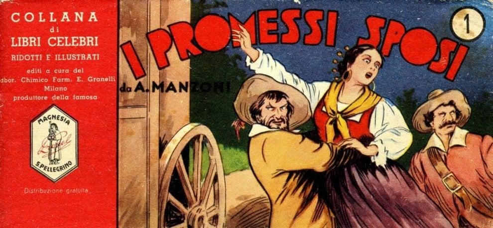 """""""Promessi sposi"""" a fumetti, il capolavoro di Manzoni tra Disney e i Flinstones"""