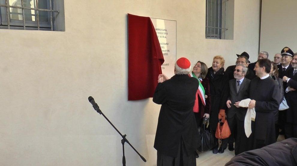 Milano, Scola scopre la targa dedicata a Martini al museo Diocesano