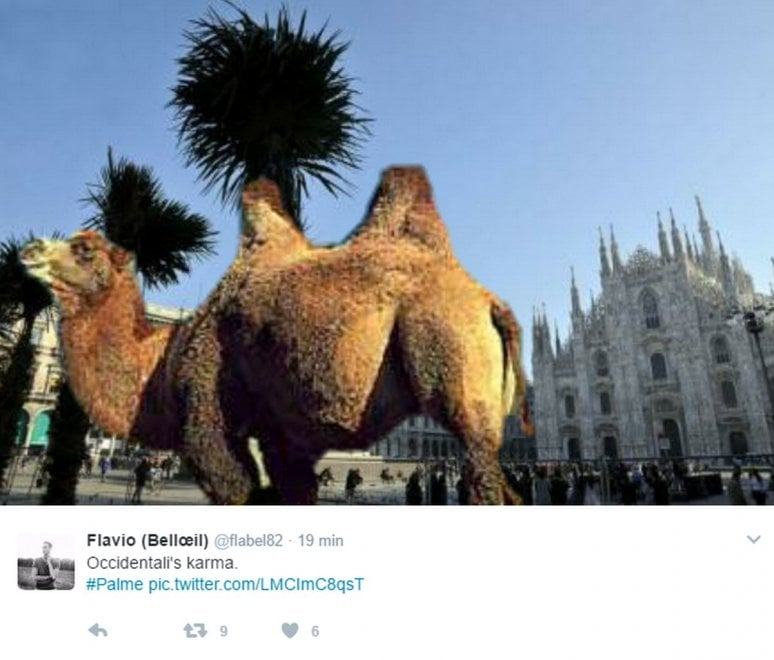 Palme in Duomo, Madonnina sotto shock: ironia social