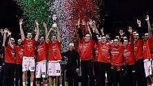 L'Olimpia vince la sesta  Coppa Italia: i giocatori festeggiano sui social