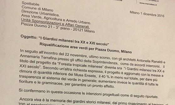 Palme in piazza Duomo a Milano: ecco come è cambiato il progetto