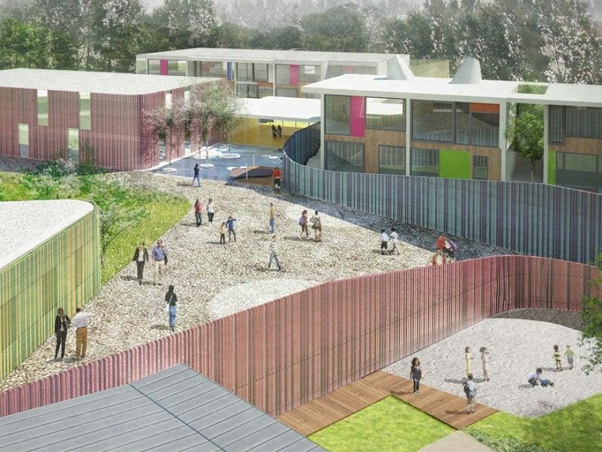 Cernusco, il nuovo polo scolastico green: i rendering