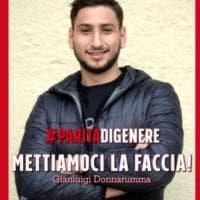 Milano, #paritàdigenere: Donnarumma e Gagliardini ci mettono la faccia