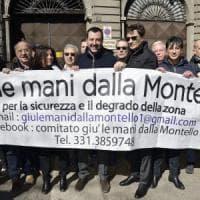 Milano, Salvini alla caserma Montello: