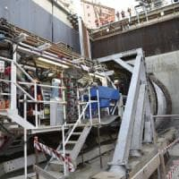 Milano, la talpa Stefania al lavoro nel tunnel della M4: