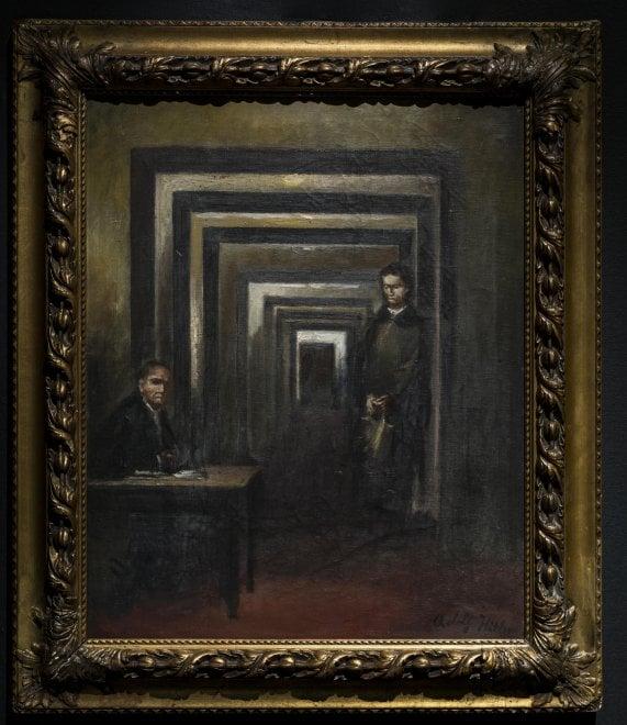 La follia in mostra nel museo di Salò, tra le opere c'è un quadro di Hitler