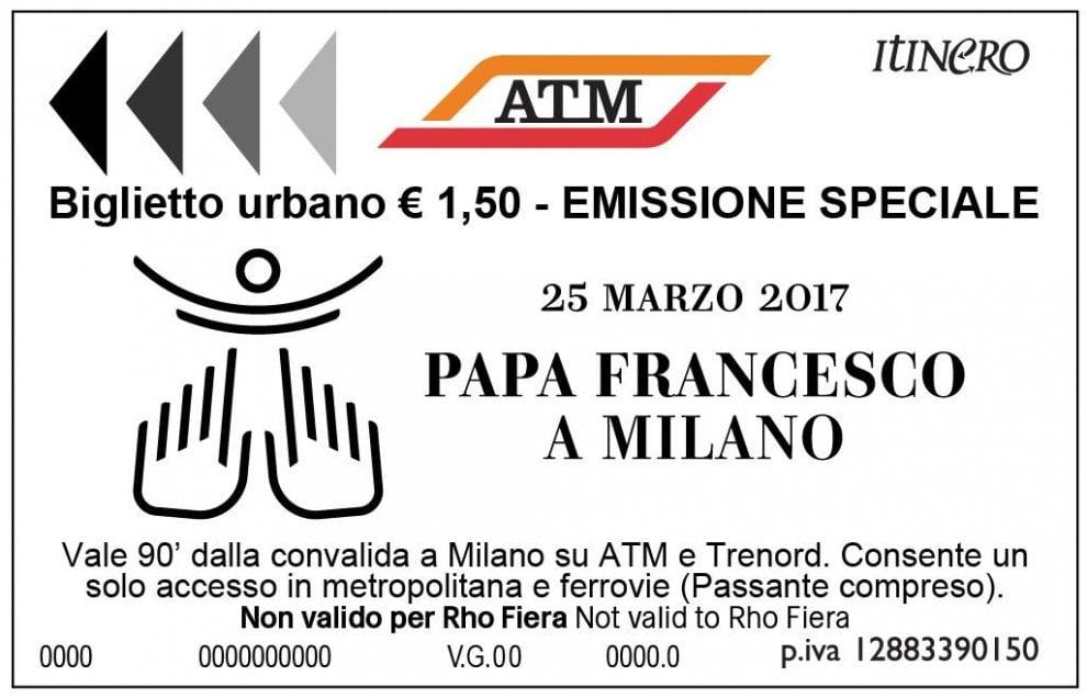 Il Papa a Milano, Atm presenta il biglietto da collezione