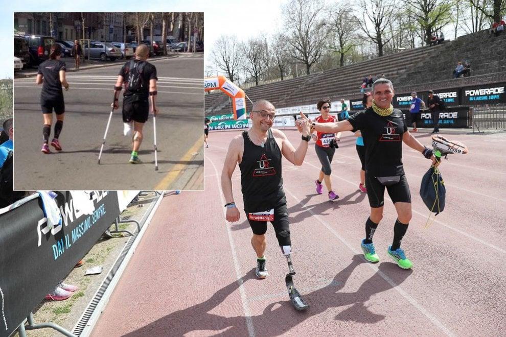 Stramilano, il ritorno del runner con una gamba sola: Constantin e la nuova protesi