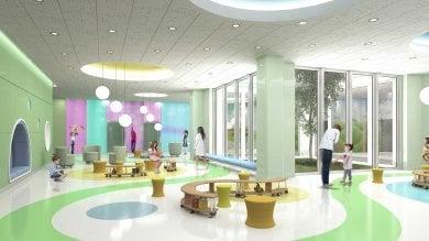 Ft  Pareti interattive e giardino terapeutico per i piccoli pazienti: ecco il nuovo Buzzi