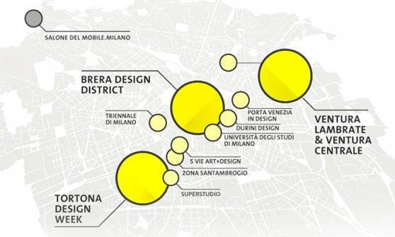 Fuorisalone, a Milano mille eventi e tre App: Isola e Cadorna tra gli 11 distretti del design
