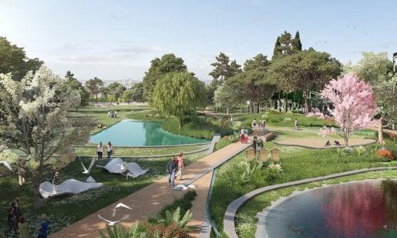 Milano, 5 cartoline dal futuro: Fiume verde, moschea e laghi urbani nei progetti per gli scali