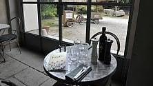 La nuova caffetteria  della Gam nel giardino d'inverno di Villa Reale