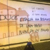 25 Aprile, ad Arconate murale dedicato alla Liberazione sfregiato con inno al Duce