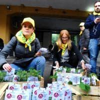 Milano Food Week, le mille piantine di via Tortona: volantinaggio verde per i residenti