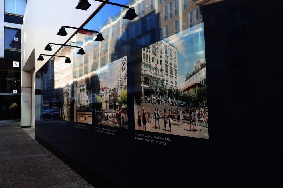 """Apple store a Milano, un finto cubo nasconde il cantiere: """"Scatola creativa per non disturbare"""""""