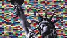Da Milano a New York  le grandi metropoli  riprodotte con i post it