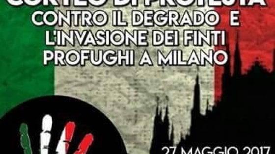 Milano: il contro-corteo di destra anti immigrati a una settimana dalla marcia antirazzista