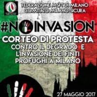 Milano: il contro-corteo di destra anti immigrati a una settimana dalla