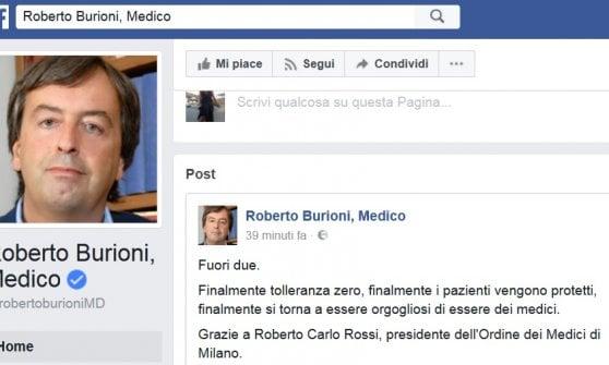 """Vaccini, l'Ordine di Milano radia il medico no vax. Lui: """"Dopo il decreto Lorenzin clima da caccia alle streghe"""""""
