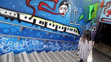 Ft  Artepassante, la fermata del metrò Repubblica è un'esplosione di street art