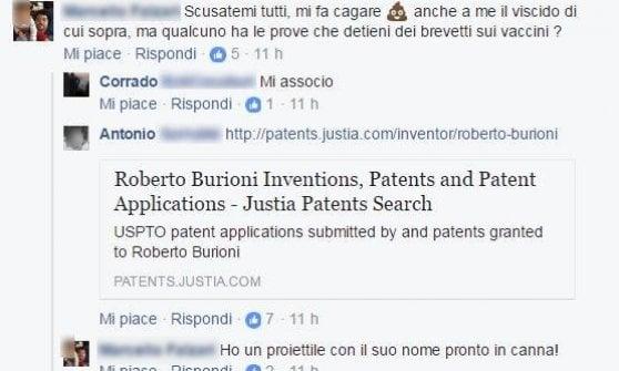 Vaccini, minacce di morte su Facebook a Roberto Burioni dai no-vax