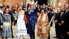 I reali d'Olanda in visita  al Cenacolo: assalto  di fotografi e curiosi