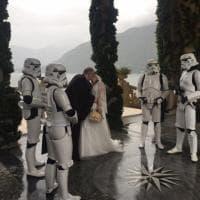 Como, sul set di 'L'attacco dei cloni' il matrimonio è in stile 'Star Wars'
