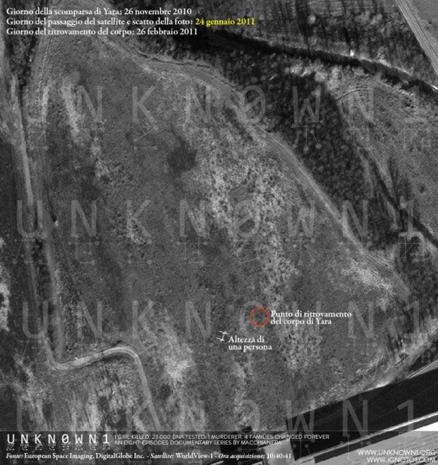 Caso Yara, le foto satellitari che secondo la difesa scagionerebbero Bossetti
