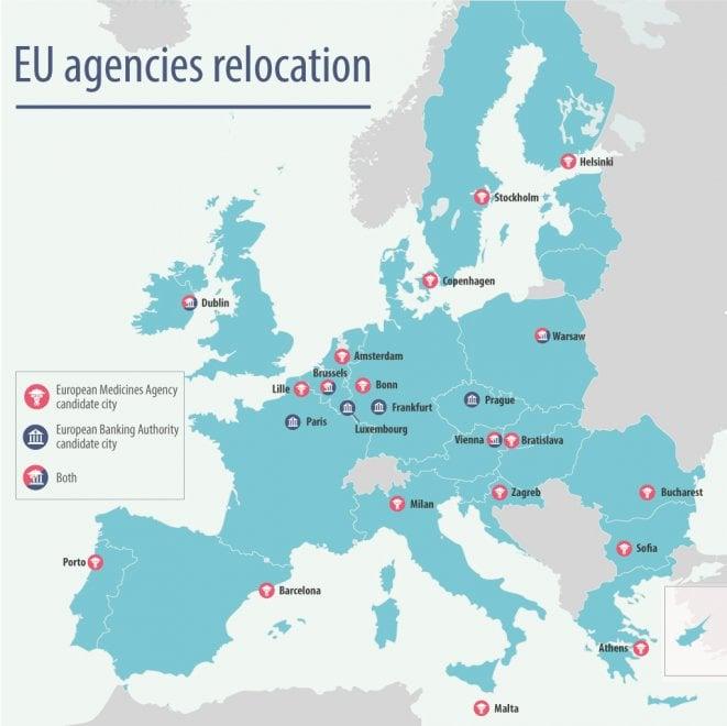 Brexit, Ema ed Eba cercano nuova casa in Ue: la mappa delle città candidate