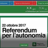 Referendum autonomia, la pubblicità non è solo sui manifesti: Maroni mette il countdown...