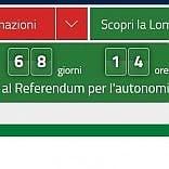 Referendum, pubblicità  non solo sui manifesti:  Maroni mette il countdown  sul sito della Regione