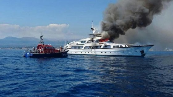 Nizza, affonda lo yacht di Diana Bracco divorato dalle fiamme a Nizza