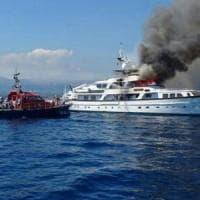 Nizza, affonda lo yacht di Diana Bracco divorato dalle fiamme a Nizza: giace