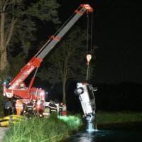 Rivoltana, auto nel canale dopo la scampagnata sull'Adda: tre morti, disperso