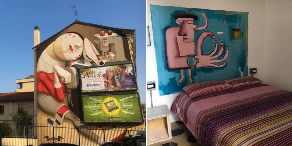 Milano, una maxi colletta per salvare il murale dell'ostello dedicato alla street art