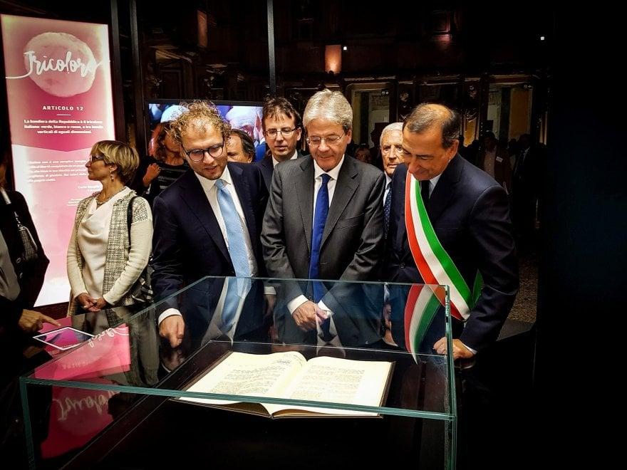 """""""Il viaggio della Costituzione"""" inizia da Milano con il premier Gentiloni"""