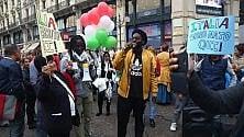 Flash mob per lo Ius Soli  in centinaia in Cordusio