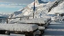 Anteprima d'inverno  sulle Orobie ci sono  15 centimetri di neve