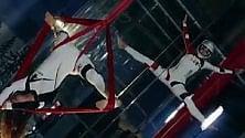 Danza in assenza di  gravità: ballerine al test  nel simulatore di volo