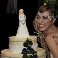 Dal taglio della torta alle bomboniere: il fotoracconto del matrimonio della sposa single di Lissone
