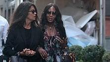 Naomi Campbell, Cindy e Ambrosio: le top model a spasso nel Quadrilatero