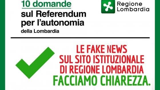 """Fake news e referendum Lombardia, Gori attacca Maroni: """"Documento della Regione pieno di falsità"""""""