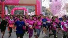 La corsa delle donne un fiume rosa in centro