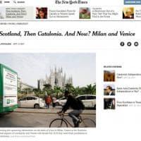Referendum autonomia, Maroni al New York Times: